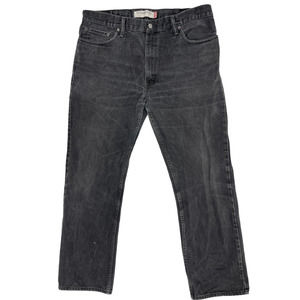 LEVI's 505 Denim Jeans 38 Black Faded Straight Leg